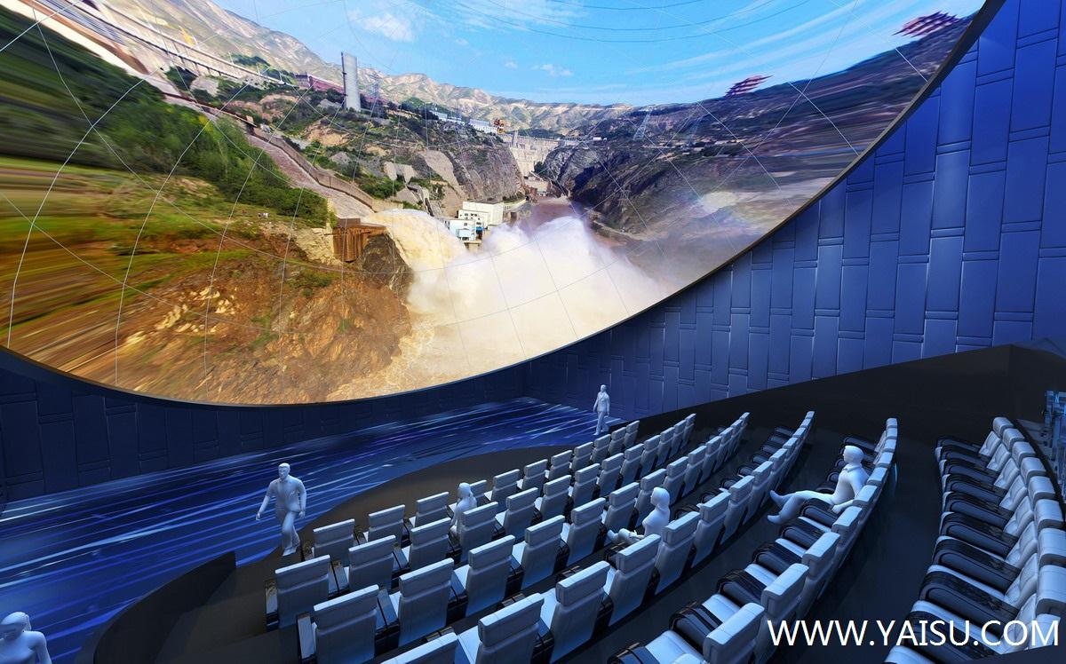 2014国际趲e:a�y�ZY`_球幕飞行影院半球形银幕趱直径达5